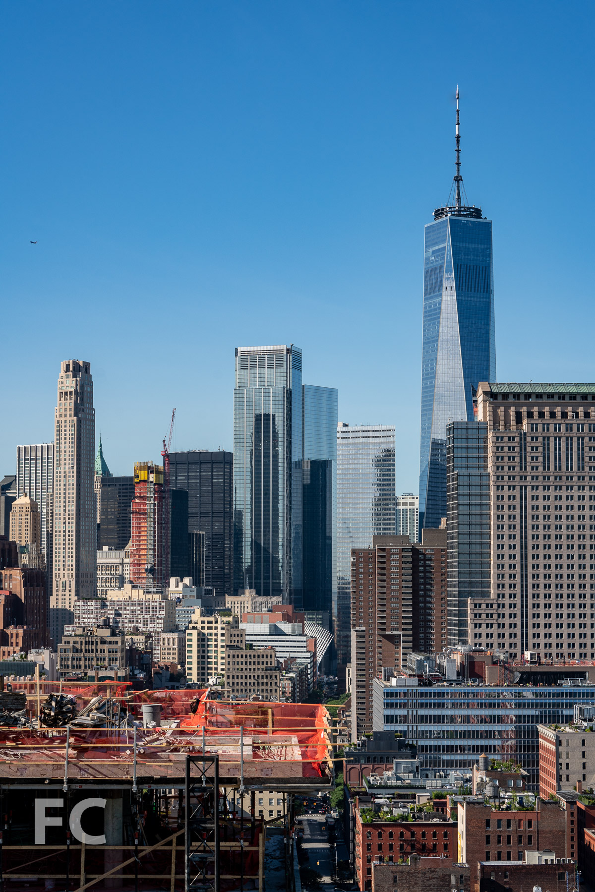 View south towards the Financial District from the top floor.