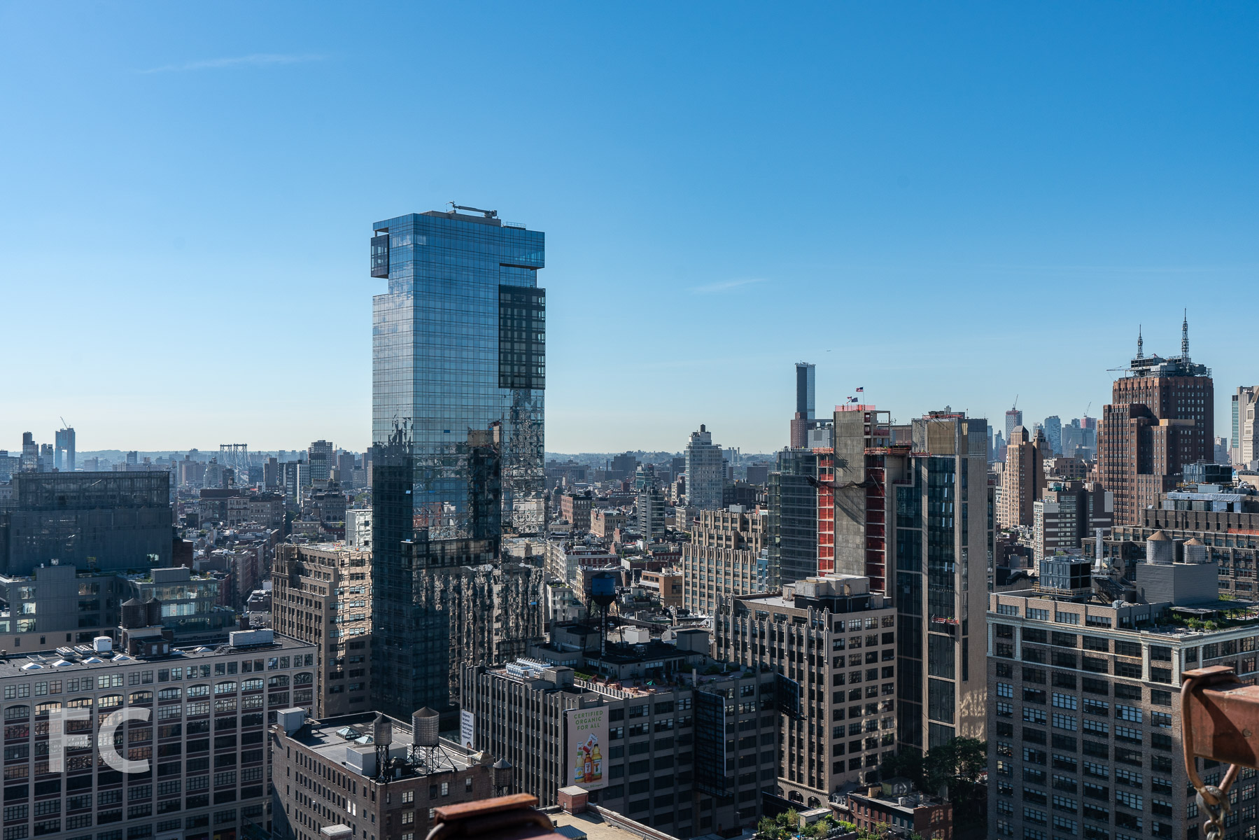 View southeast towards SoHo from the top floor.