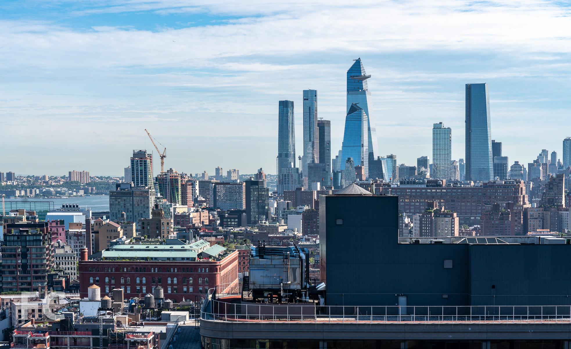 View north towards Chelsea and Hudson Yards from the top floor.