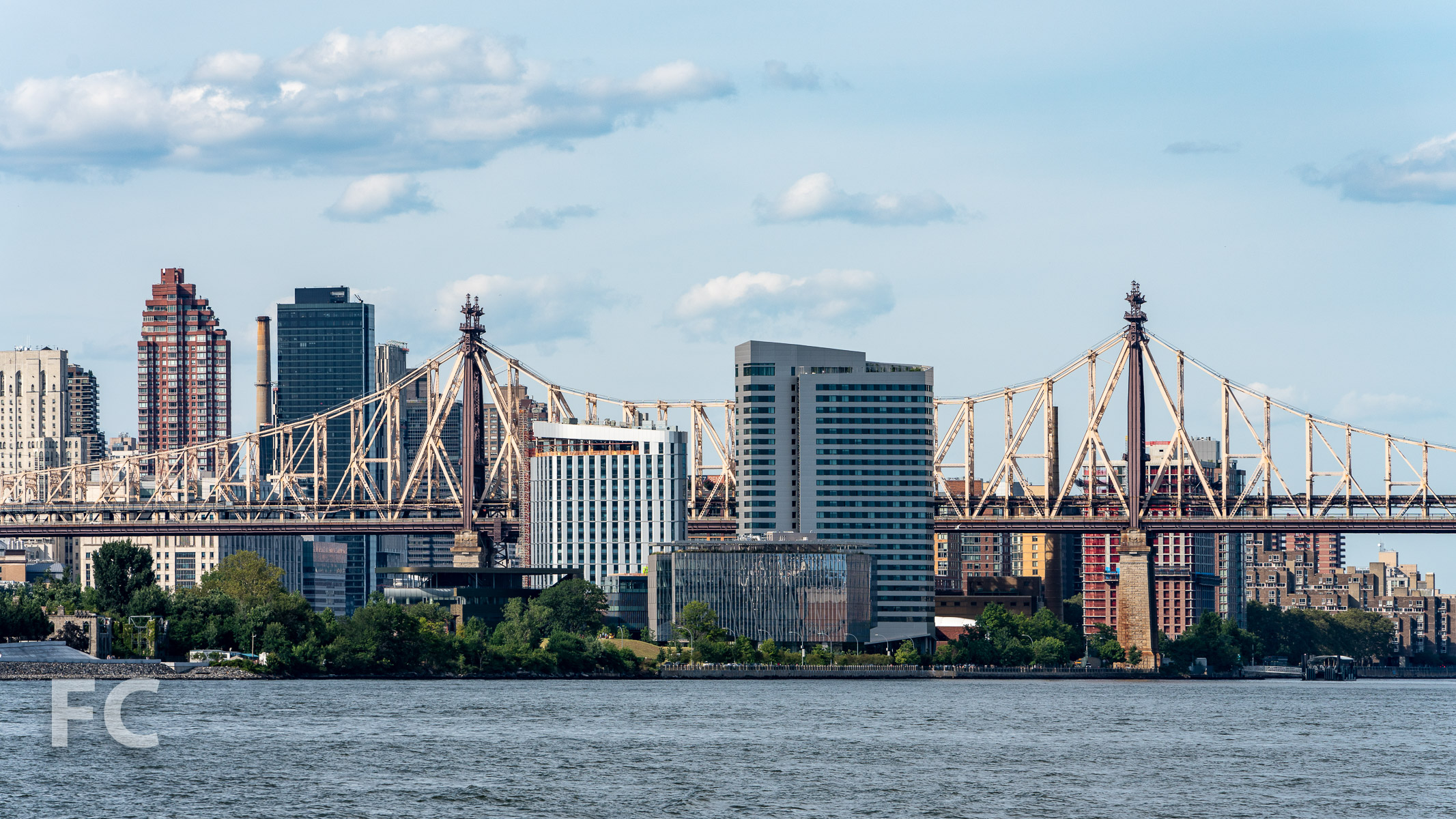 Cornell Tech campus from the East River.
