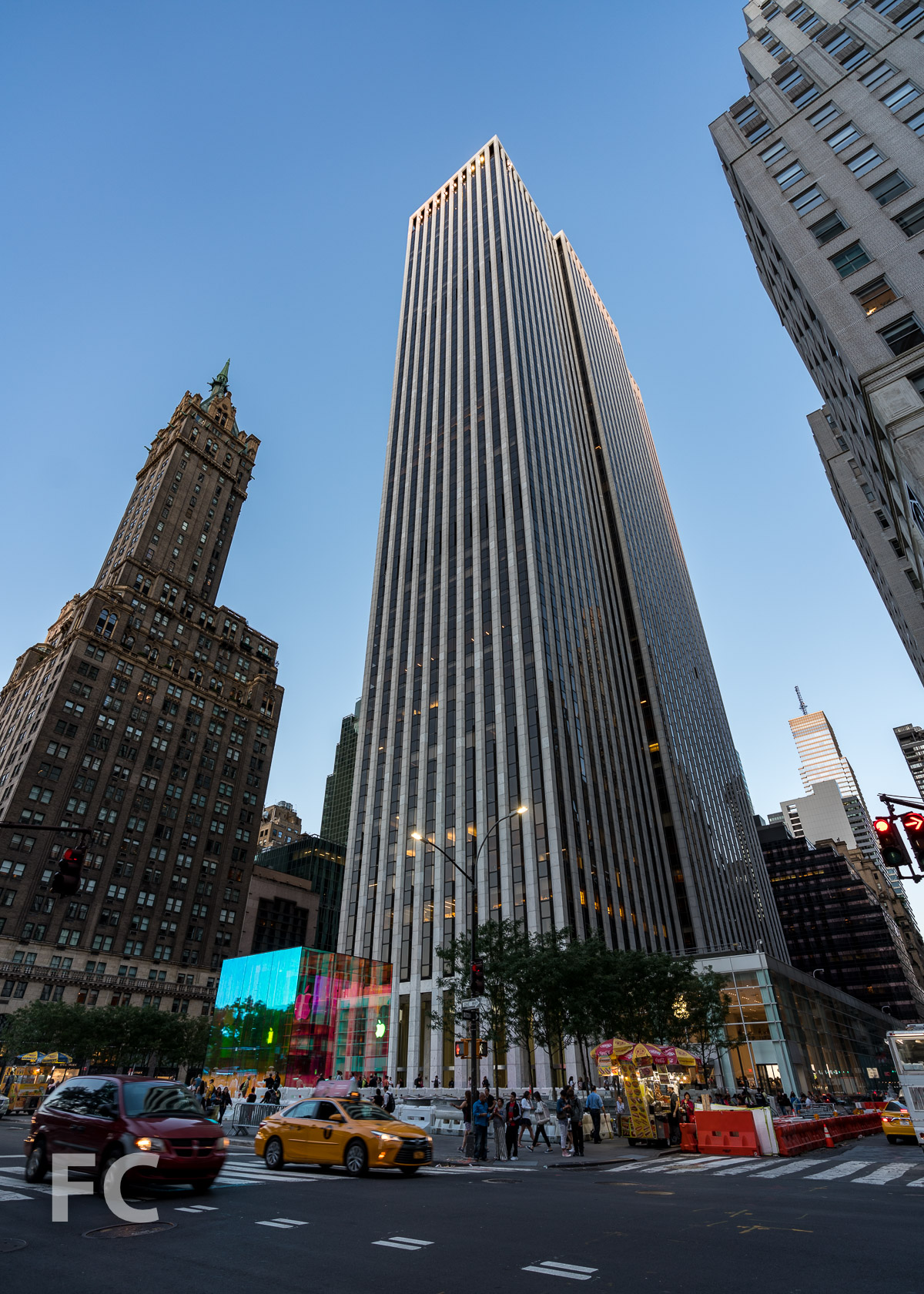 Southwest corner from 5th Avenue.