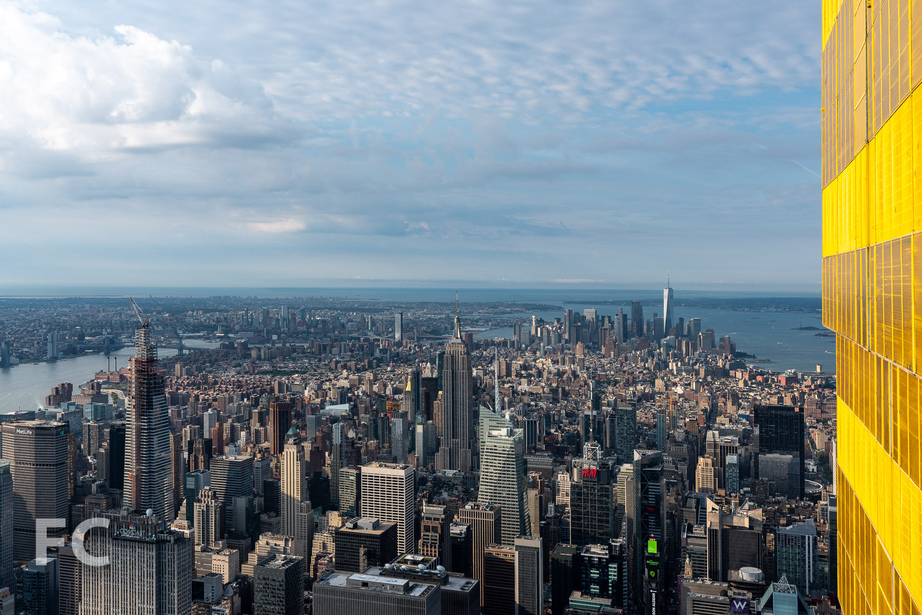 One Vanderbilt on the Midtown skyline, seen from the top of Central Park Tower.
