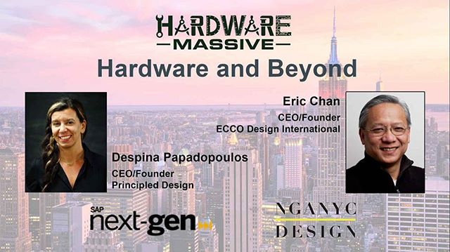 Eric Chan will be speaking at Hardwarecon on Tuesday March 20th at 6:00 PM along with Despina Papadopoulos, CEO/founder of Principled Design. Don't forget to buy your ticket. We look forward to seeing you soon! 😀 link in bio ⬆️