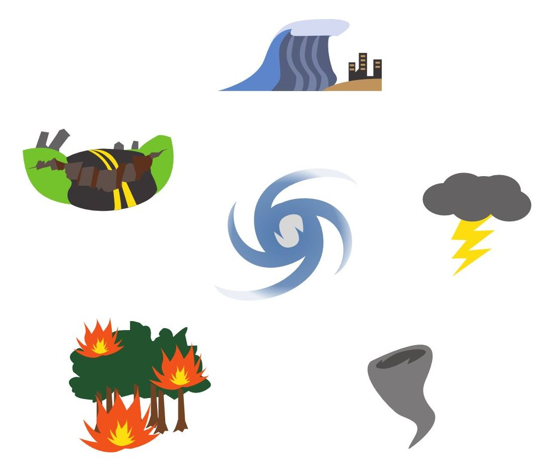 Icon Set - Natural Disasters