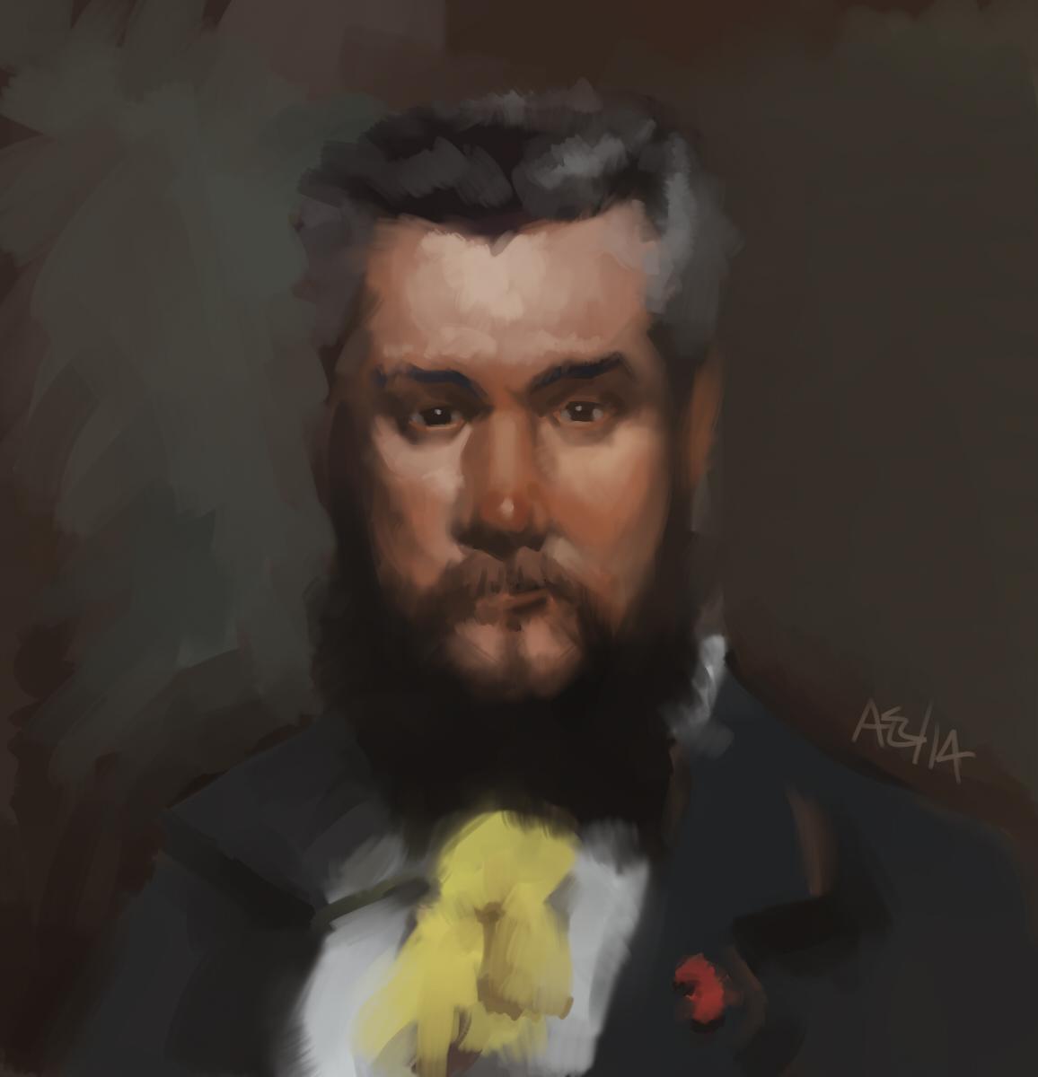 Portrait of Hanoteau (after Carolus-Duran)