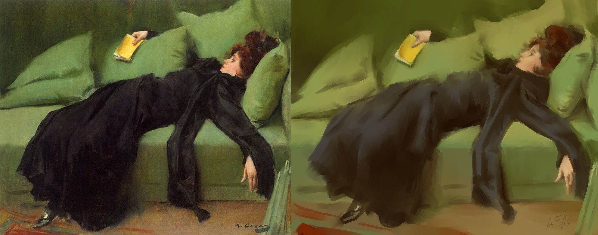 After the Ball (after Ramon Casas y Carbo)