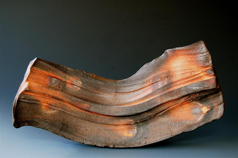 woodfired 37 ( wall vase ) D3 x W16 x H7 inches