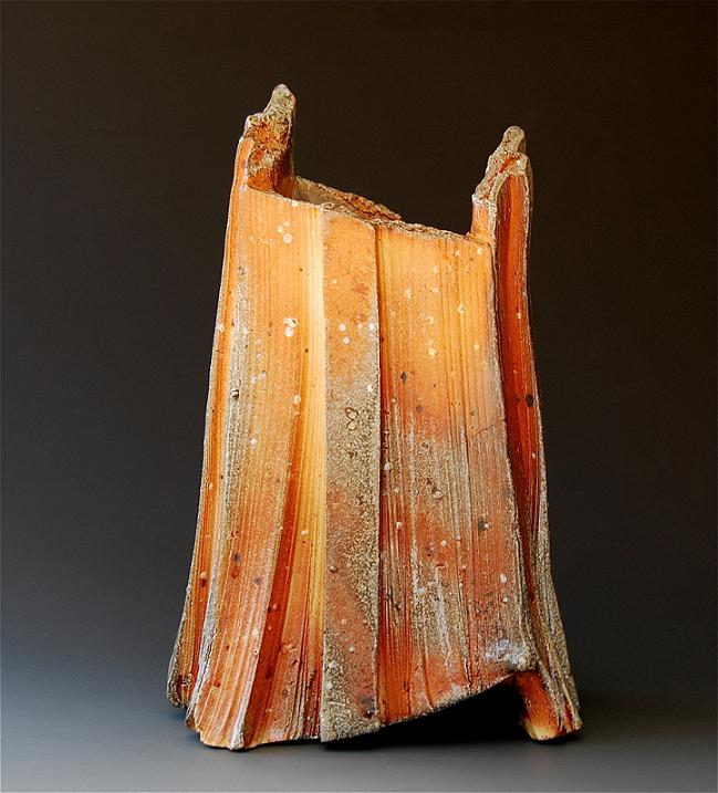 woodfired 43 ( vase ) 12 x 7.5 x 7.5 inches