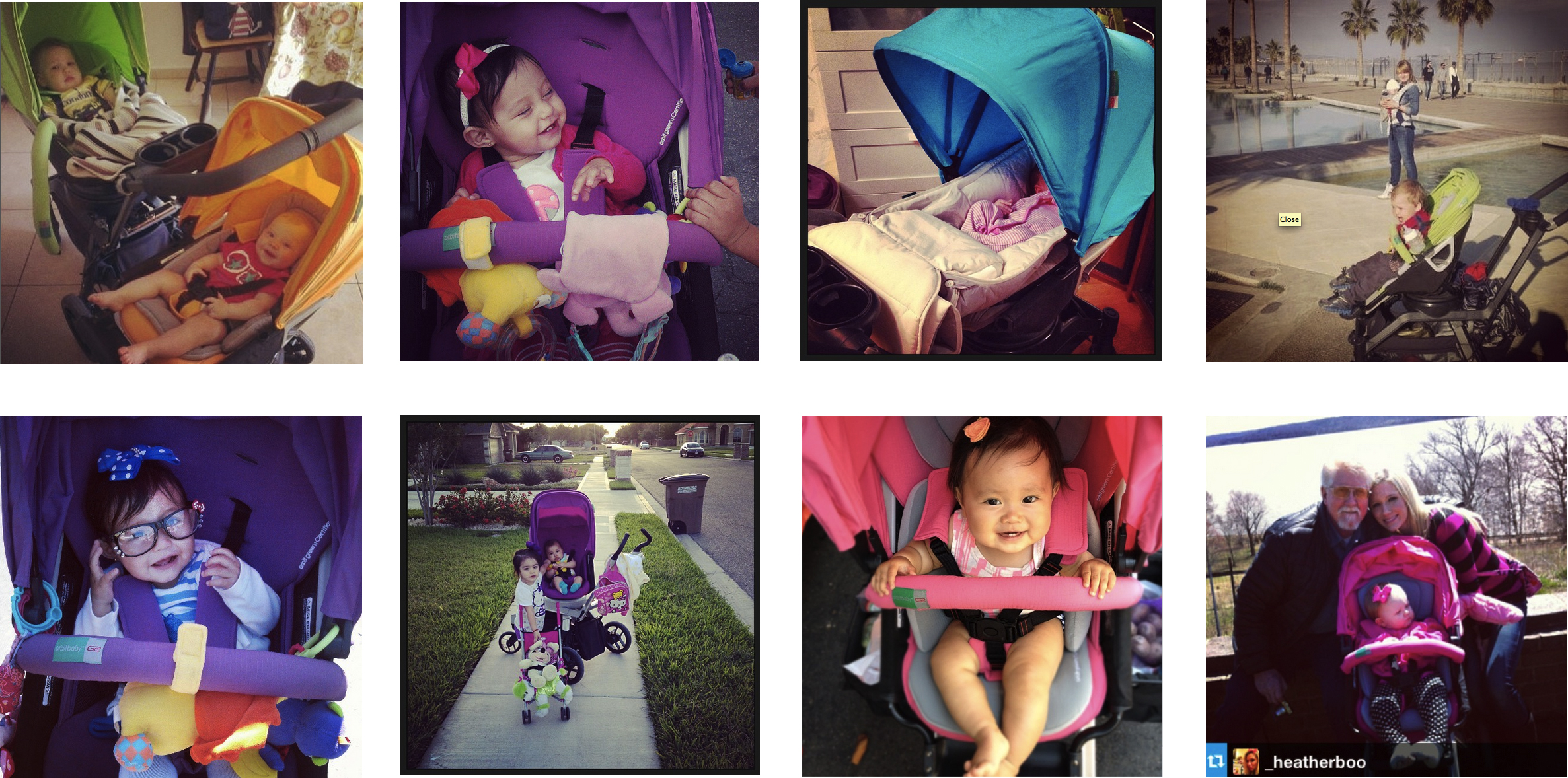 Images from Orbit Baby (#orbitbaby) fans and @ohjoy on Instagram