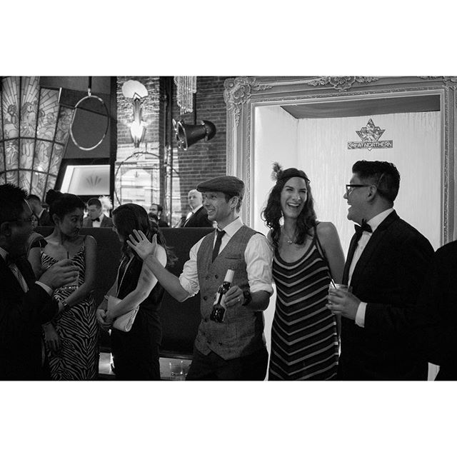 All the peeps: the hubby, the boss, the classmate, the teammates, the friends. ❤️ #companyparty #gatsby