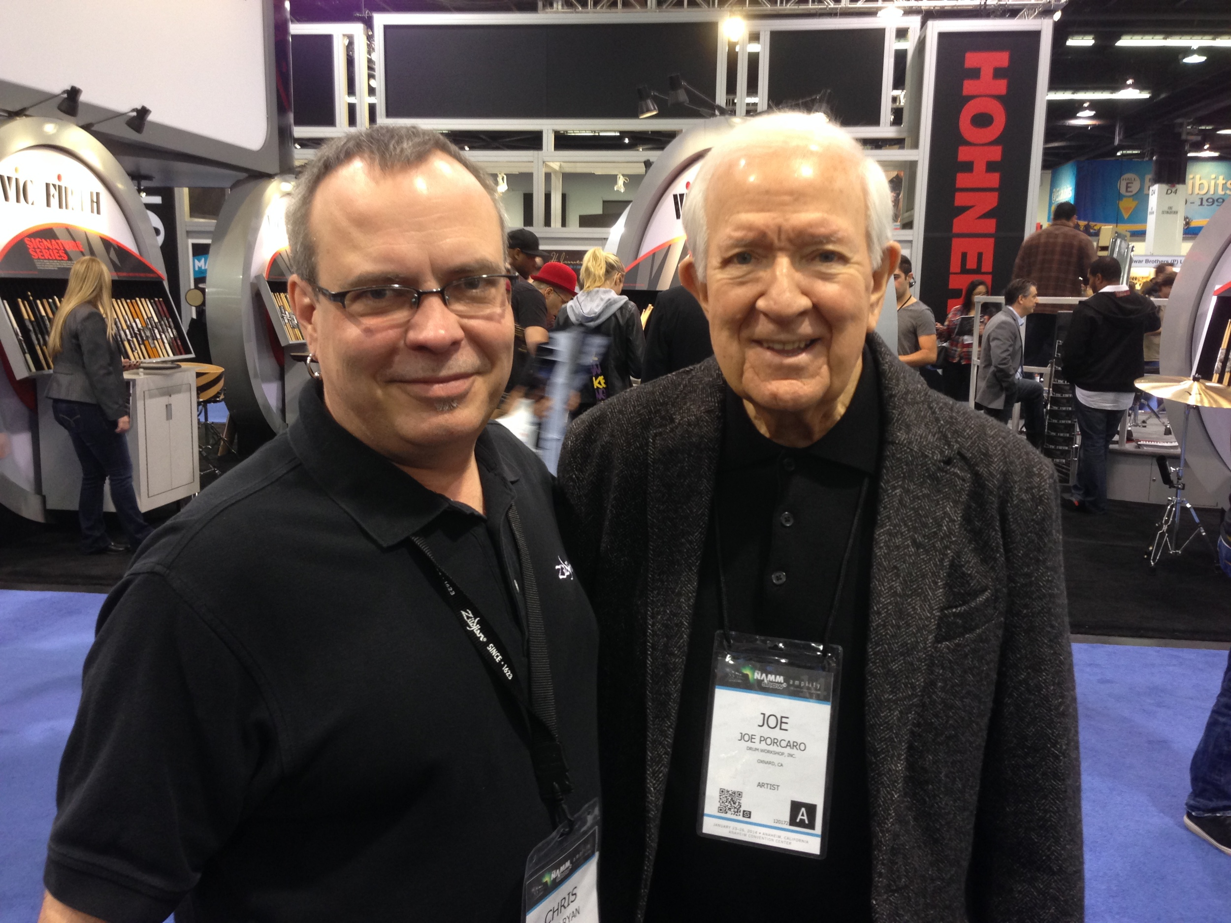 with Joe Porcaro, NAMM 2014