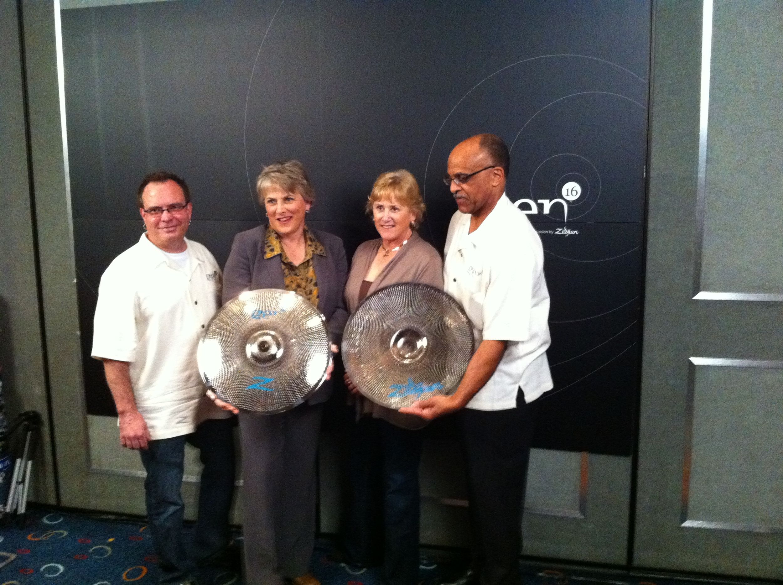 The launch of Zildjian's Gen-16 Acoustic Electric (AE) Cymbal System, with Craigie Zildjian, Debbie Zildjian, and John Roderick