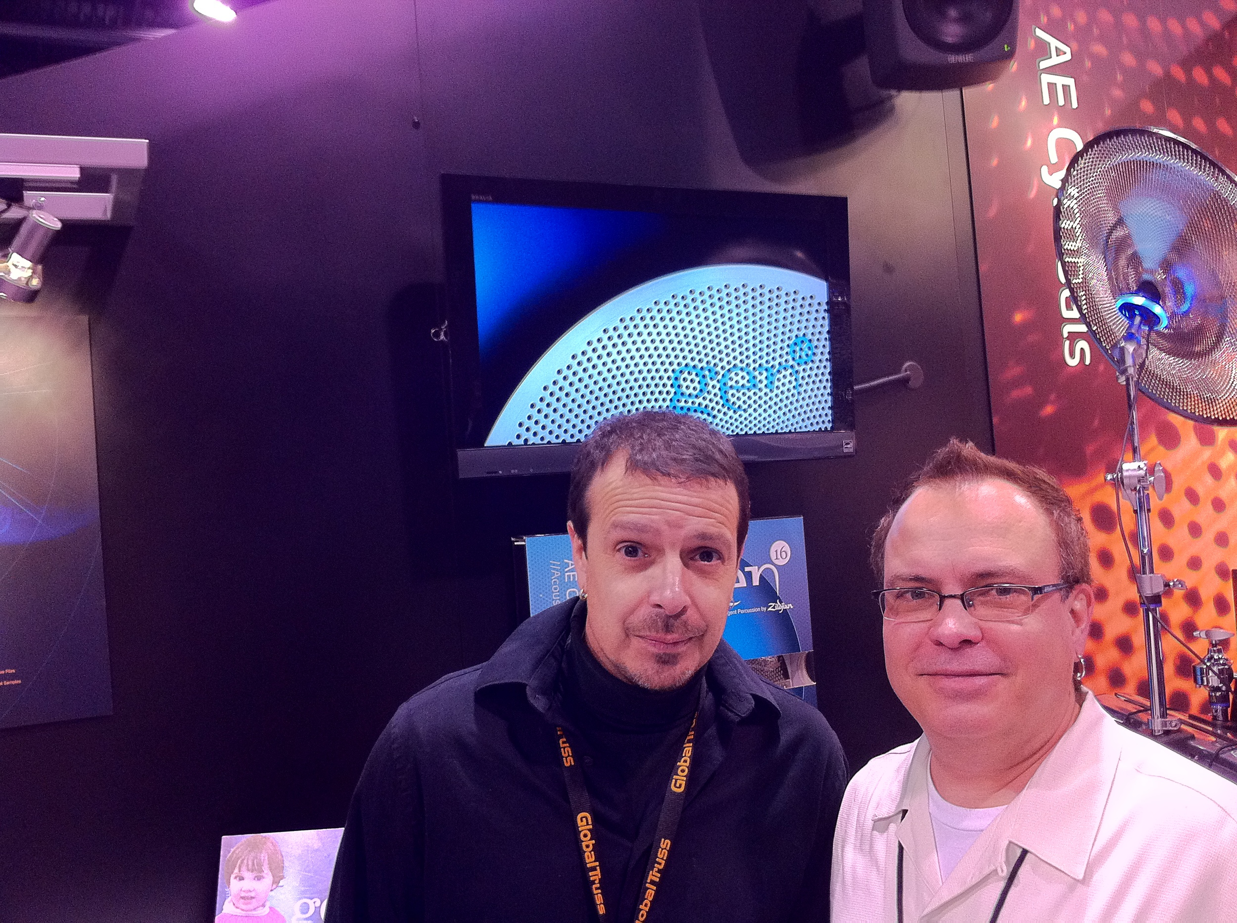 with Dan Dauz - Dauz Drums, NAMM 2011