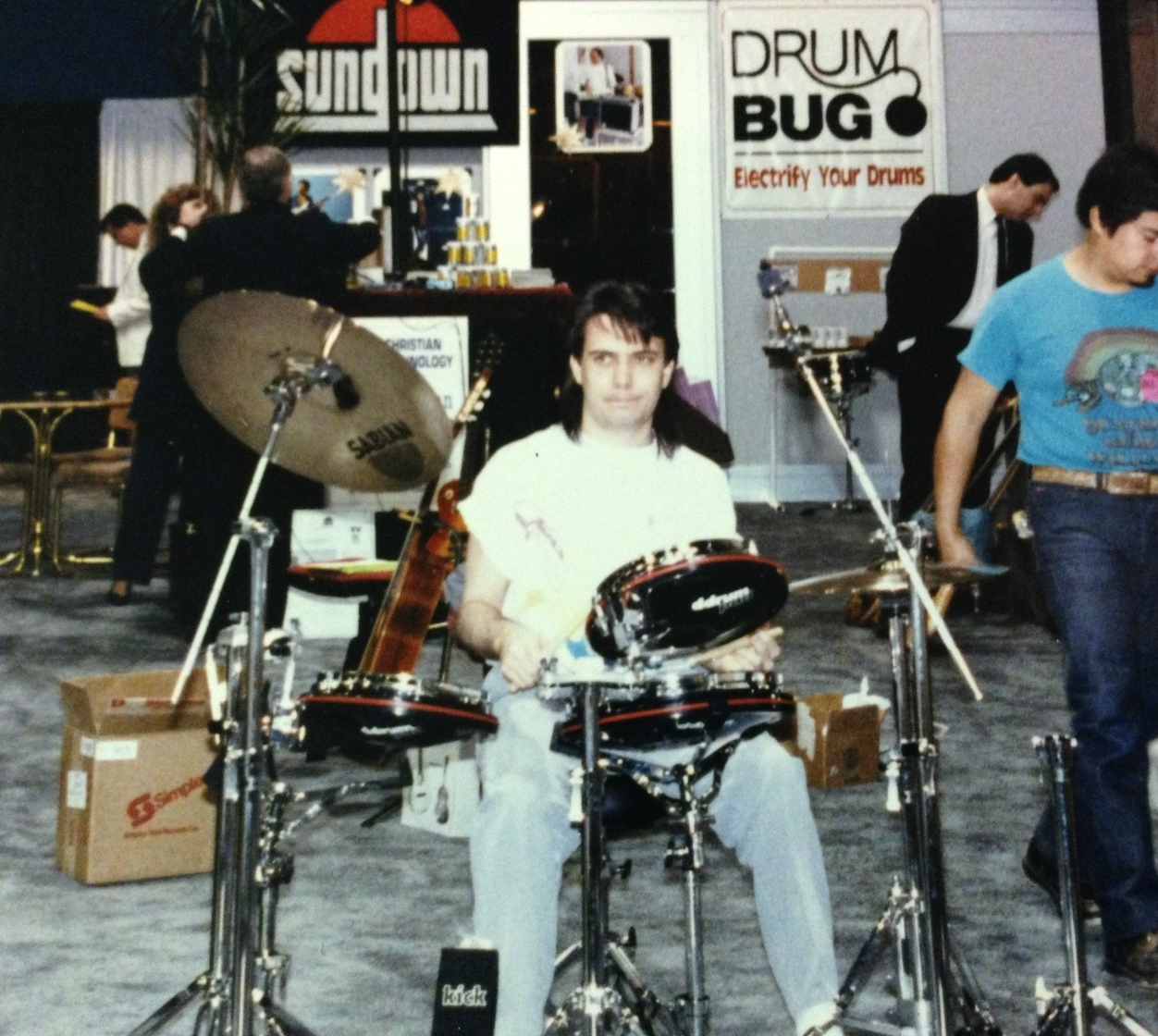 NAMM 1985 with ddrum