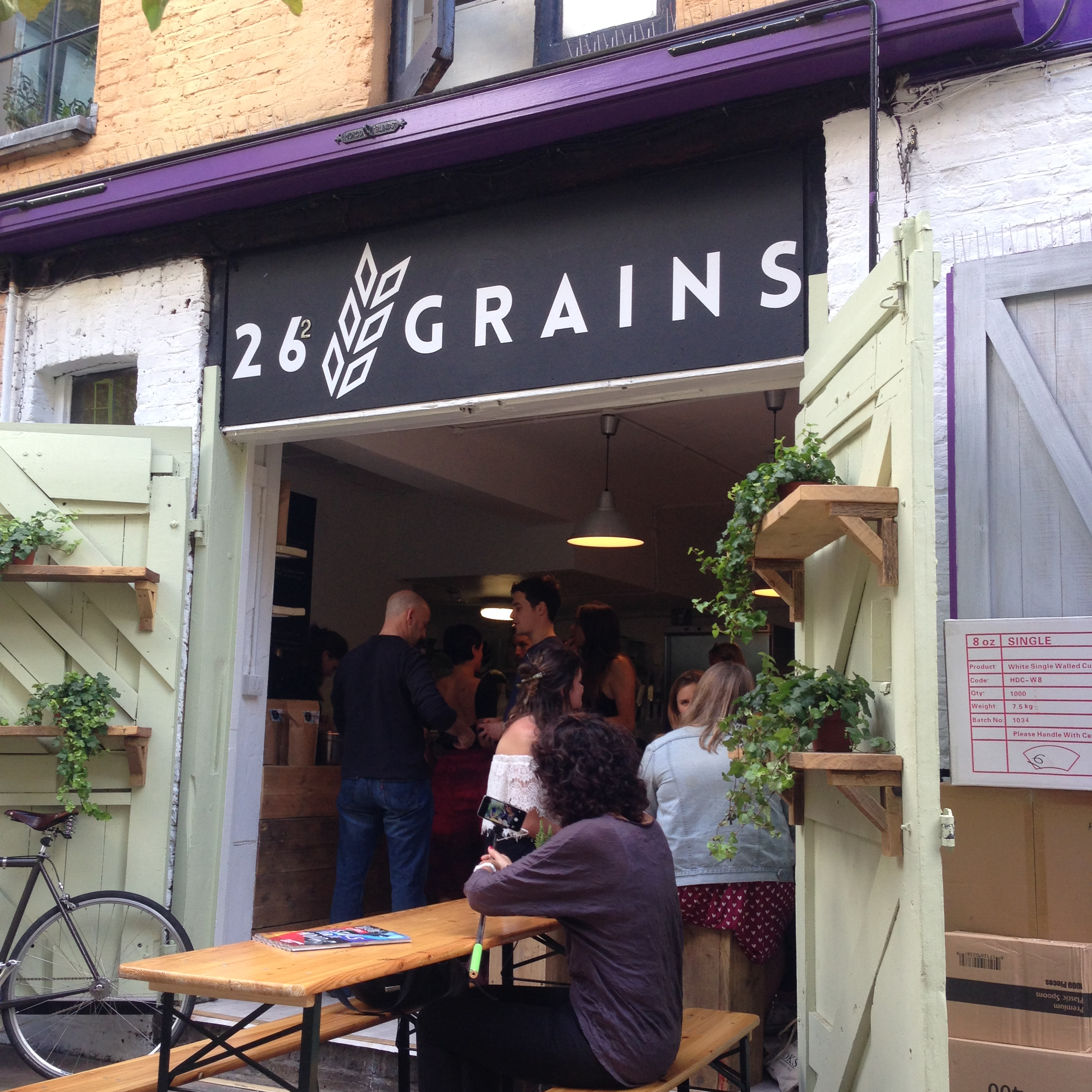 checking out a sweet new crowdfunded cafe in london:  26 grains.