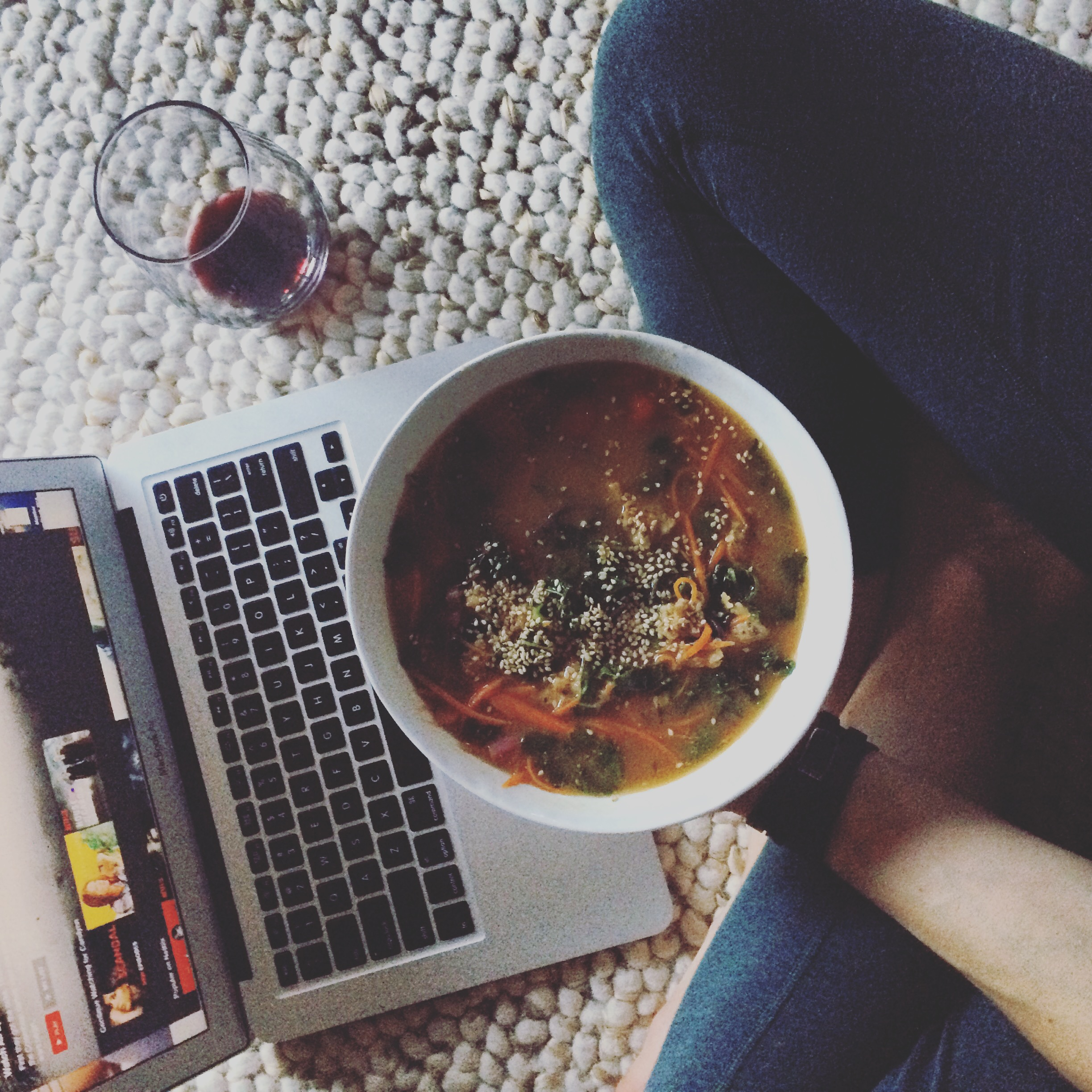 netflix + miso soup - was a regular friday night activity in October.