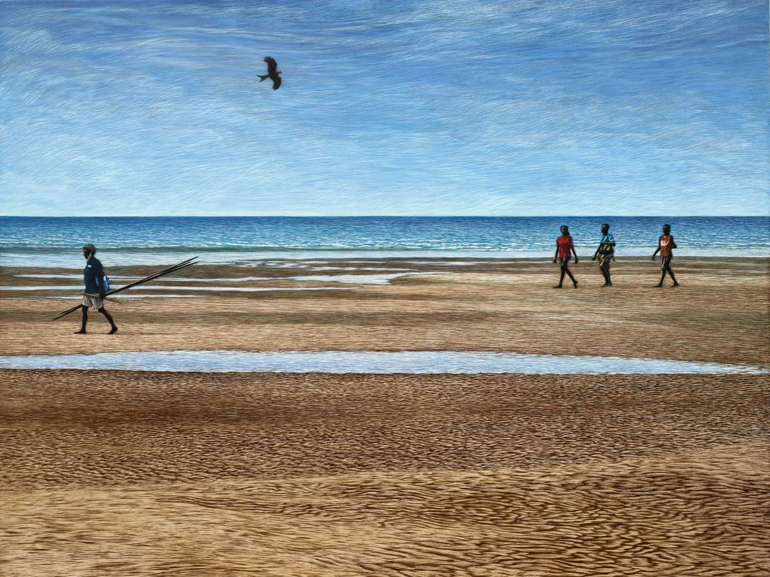 HEADING BACK BUFFALO CREEK BEACH, DARWIN  45.5 X 61 CM,  EDITION OF 50  PIGMENT ON COTTON RAG PAPER  $1,100