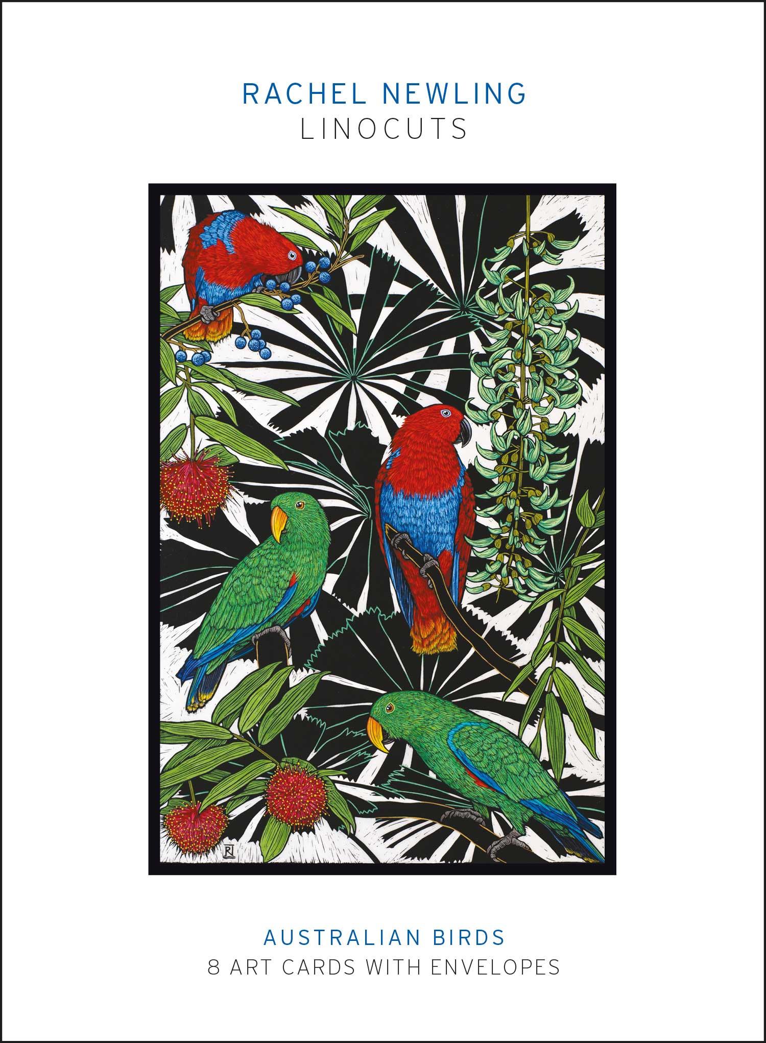 Australian Birds linocuts pack