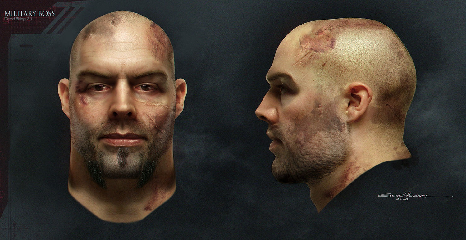 Military Boss Photo Real Head Concept /// Gus Mendonca