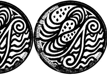 Wellington's stormwater lid, design: Freda Wells