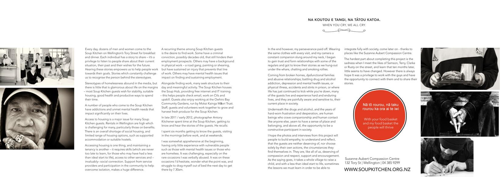 Article on Wellington's Soup Kitchen, By Antony Kitchener (Kiwi Diary 2013)