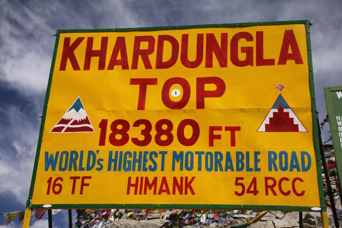 Roadsign in Ladakh, India