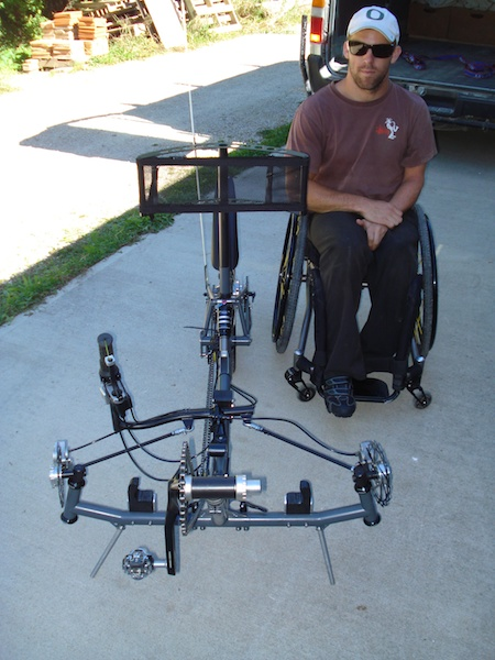 Recumbent wheelchair bike + Wheelchair