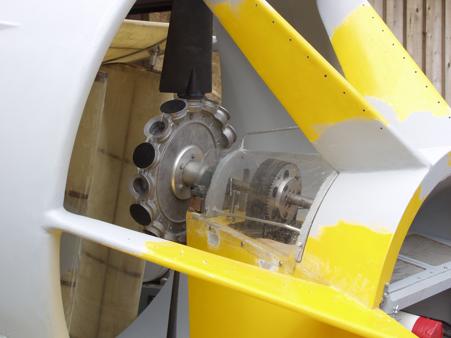 Belt driven thrust propeller.