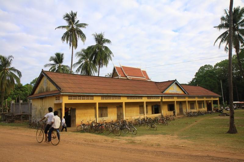 A local school in Cambodia.