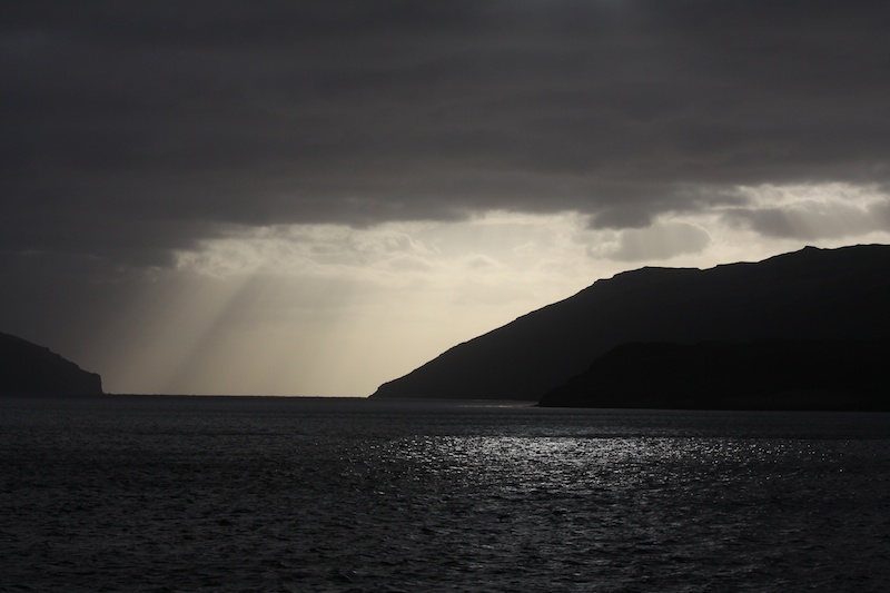 Sunrise in Carnley Harbour, Auckland Islands.