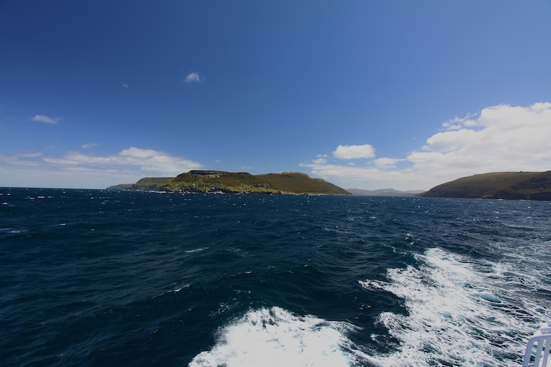 Departing the Auckland Islands