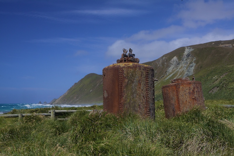The boilers where penguins were rendered for oil by the thousands after the seals were all killed about 100 years ago.