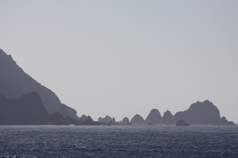 The southern tip of Macquarie Island