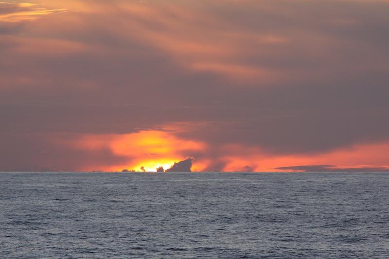 A final sunset before the midnight sun.
