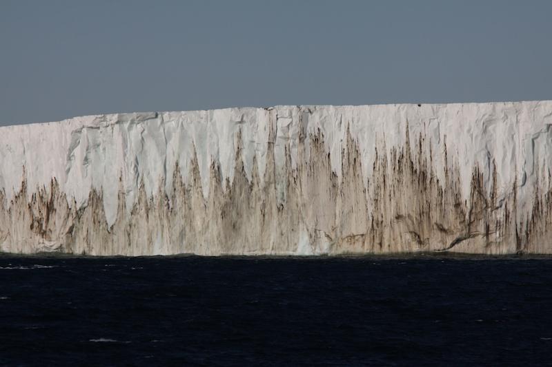 A 30 or 40 m high iceberg near Mt. Melbourne.