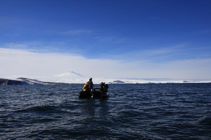 Terra Nova bay with Mt. Melbourne beyond.