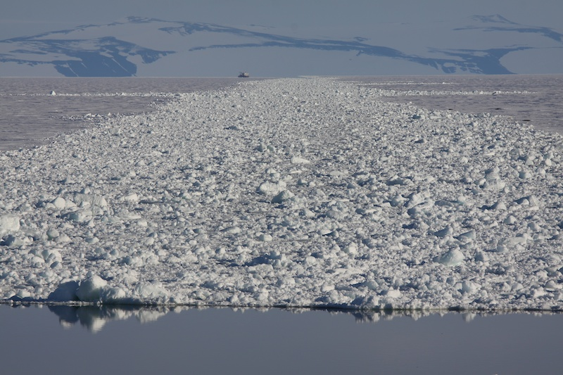 The iced in channel to McMurdo and Scott bases.