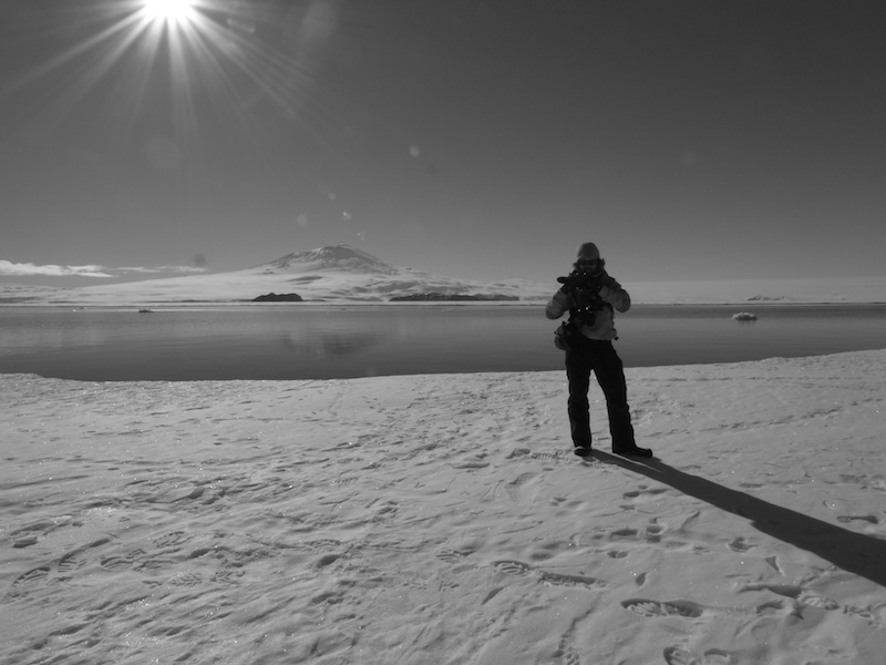 Out for a walk on the sea ice.