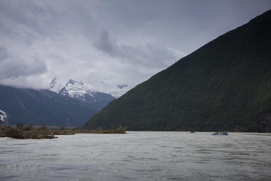 Crossing the border into Alaska.
