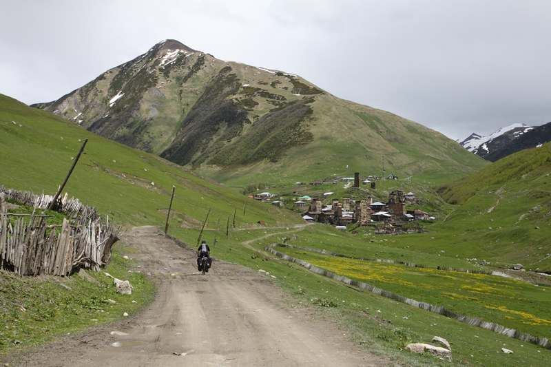 Finally we reach Ushguli, said to be Europe's highest village at 2200 m.