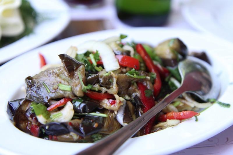 Delicious eggplant salad.