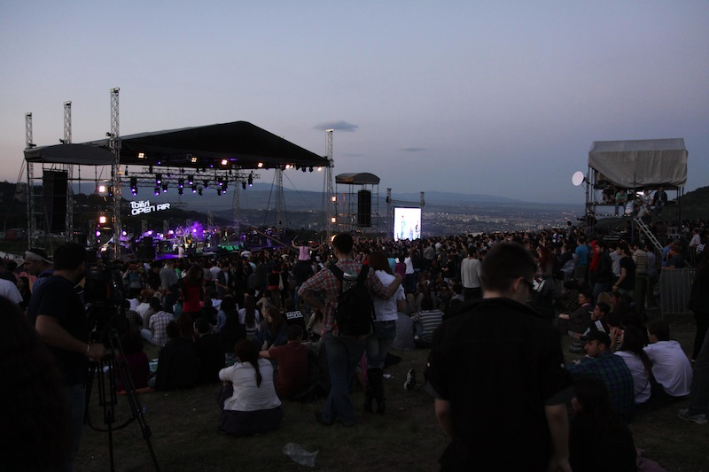 Music festival in the hills above Tbilisi.