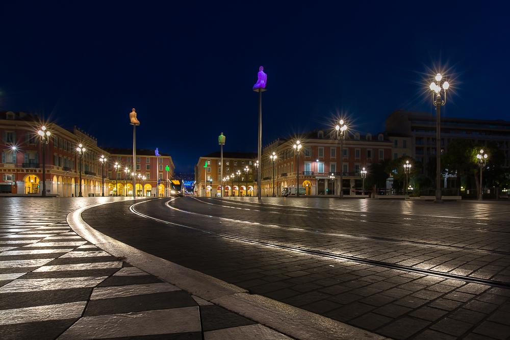Place Massena à l'aube. Nice. © Sébastien Borda