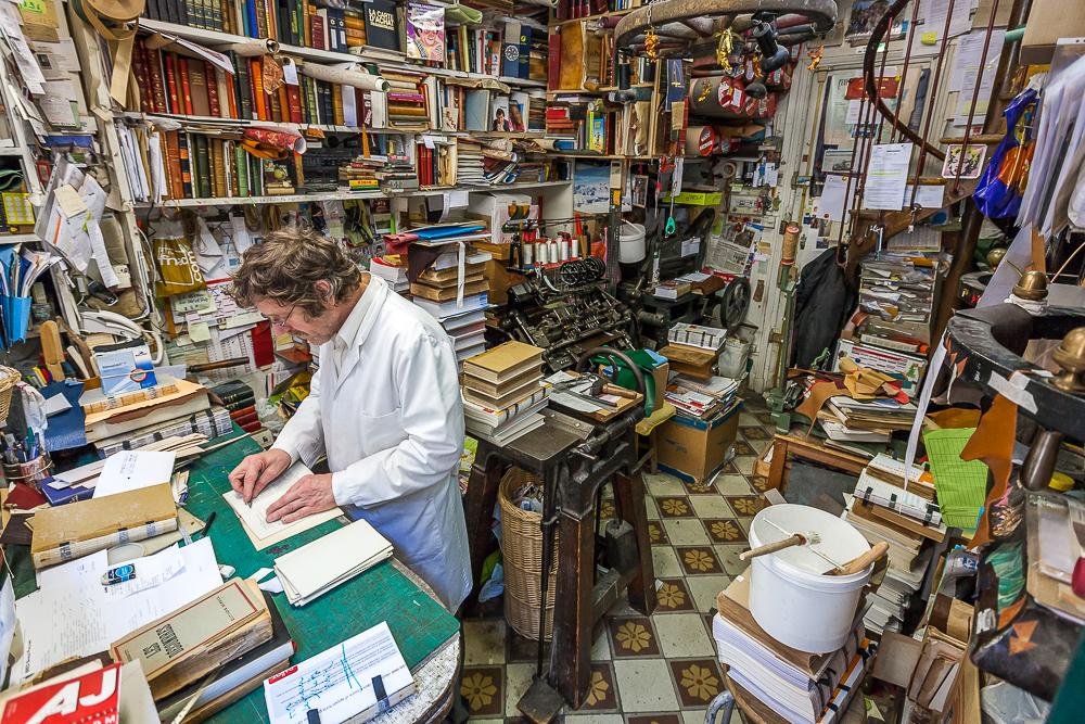 Atelier de Monsieur Coiffard. © Sébastien Borda