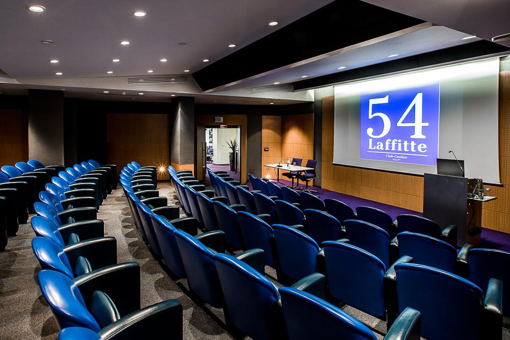 Auditorium d'un centre de conférence à Paris. © Sébastien Borda|www.sebastienborda.com