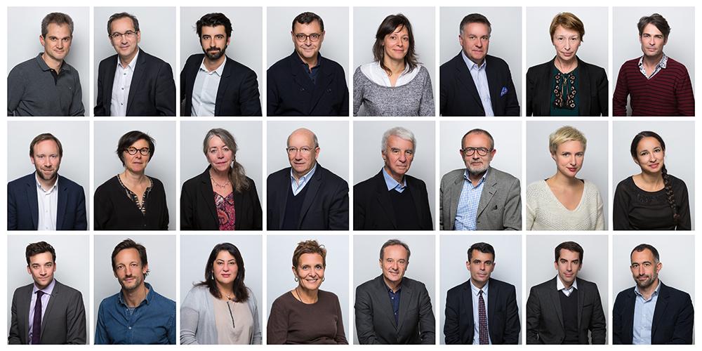 trombinoscope des membres d'un conseil d'administration