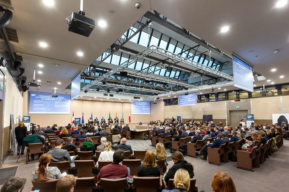 Vue générale de la salle de conférence au Ministère des Affaires Etrangères. Paris © Sébastien Borda I www.sebastienborda.com