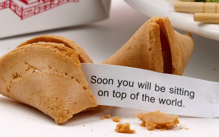 A bullshit fortune cookie.