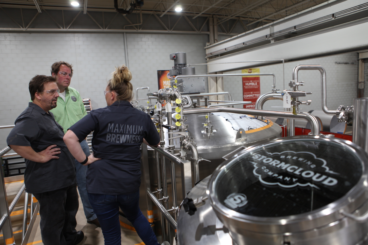 Inspecting New Brew System - June 29, 2017