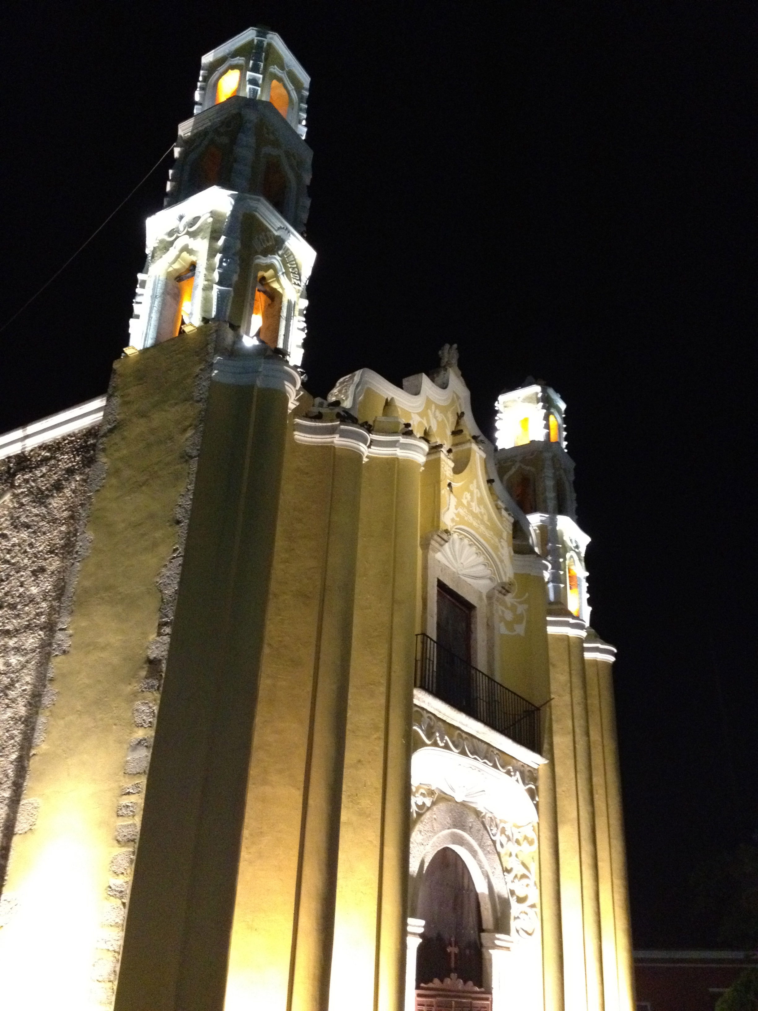 Illuminated Church in Merida